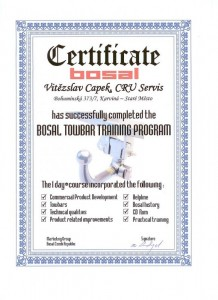 Odborná montáž, prodej a servis tažných zařízení firmy BOSAL