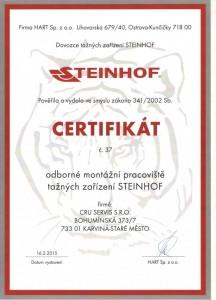 Odborné montážní pracoviště tažných zařízení STEINHOF