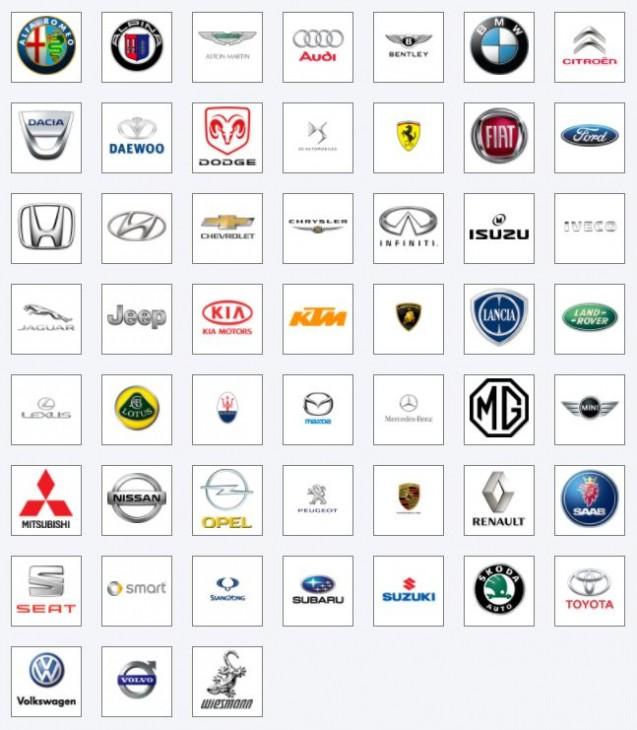 V naší firmě jsme schopni upravit vozidla těchto značek: