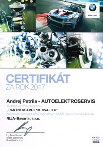 Certifikát za rok 2017