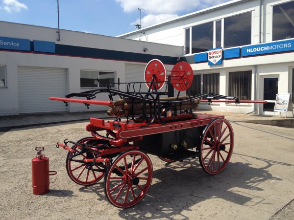 Renovace hasičské stříkačky